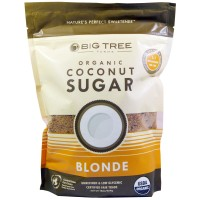 Big Tree Farms, Органический кокосовый сахар, светлый, 16 унций (454 г)